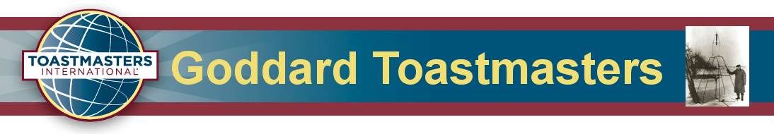 Goddard Toastmasters Banner; back to homepage